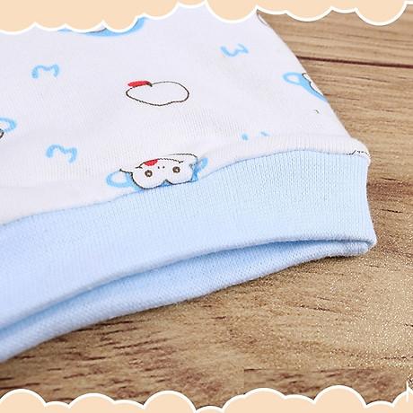 Combo 2 Mũ Che Thóp Cotton Mềm Cho Trẻ Sơ Sinh 0-6 Tháng - Họa Tiết Bé Gái 11