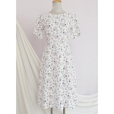 Đầm váy nữ dài hoa nhí, dáng xoè, đẹp nhẹ nhàng, đơn giản, ngọt ngào RD037.2 2