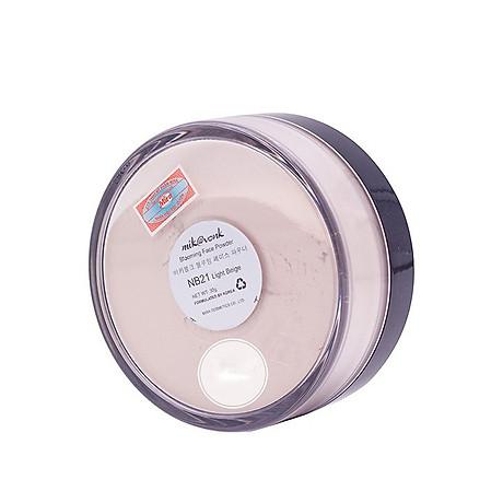 Phấn phủ bột kiềm dầu Mik vonk Blooming Face Powder Hàn Quốc 30g NB19 Natural Beige tặng kèm móc khoá 8