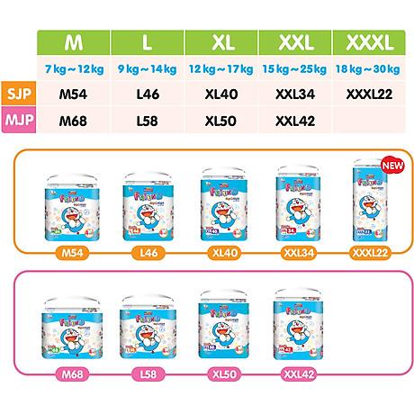 Tã quần Goon Friend Doremon mới gói siêu đại L58 (9kg 14kg) 4