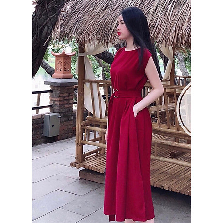 Đầm đỏ tay con 2