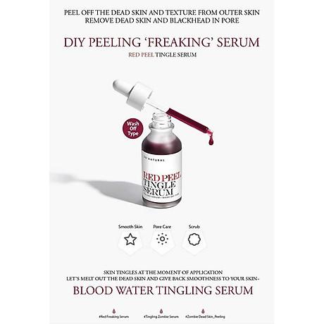 Tinh chất tái tạo da sinh học So Natural Red Peel Tingle Serum Tái tạo da 35ml+ Tặng kèm 1 mặt nạ sủi bọt Su m 37 Đen 7