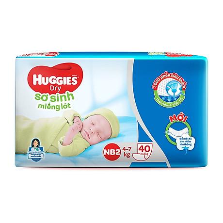 Miếng lót sơ sinh Huggies Newborn 2 - Gói 40 miếng 2