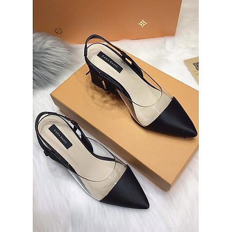 Giày Sandal Cao Gót Quai Da 1