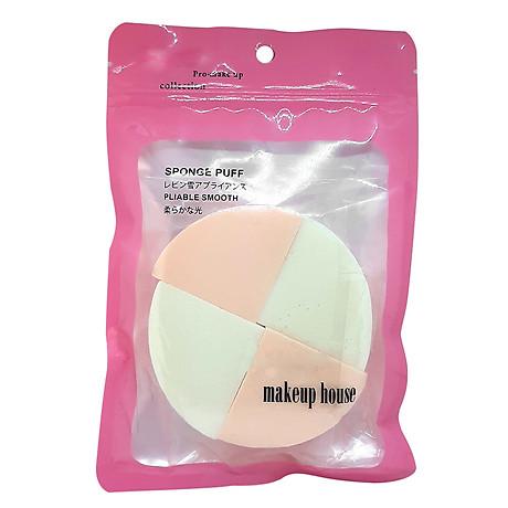 Bông phấn ướt tam giác 4 miếng Makeup House 1