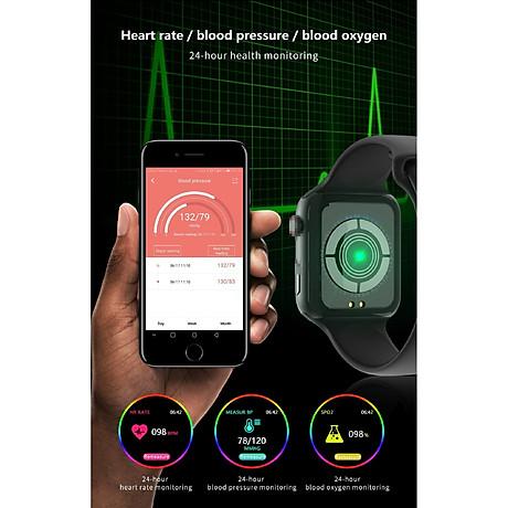 Đồng hồ thông minh Smart Watch theo dõi sức khỏe Watch 5 theo dõi nhịp tim vận động ( Giao màu ngẫu nhiên) 4