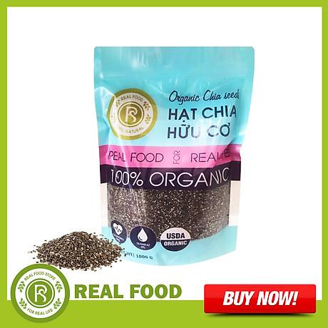 Túi Hạt Chia Hữu Cơ Mỹ Dinh Dưỡng Cho Mẹ Real Food (1kg) 1