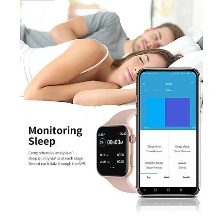 Đồng hồ thông minh Smart Watch theo dõi sức khỏe Watch 5 theo dõi nhịp tim vận động ( Giao màu ngẫu nhiên) 2