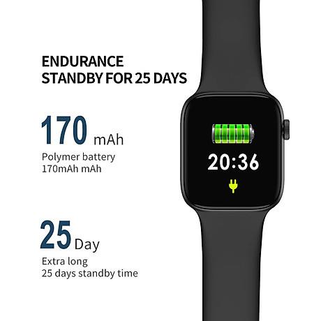 Đồng hồ thông minh Smart Watch theo dõi sức khỏe Watch 5 theo dõi nhịp tim vận động ( Giao màu ngẫu nhiên) 8