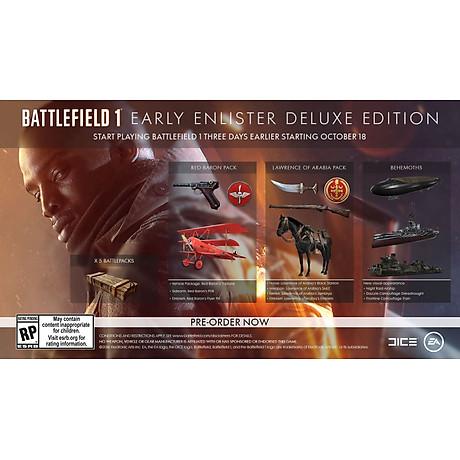 Đĩa Game PS4 Battlefield 1 Early Enlister Deluxe Edition - Hàng Nhập Khẩu 3