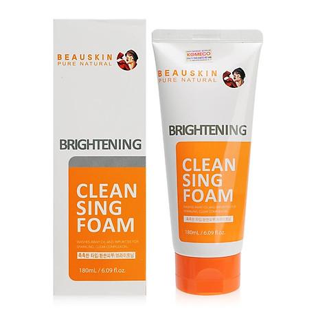 Sữa rửa mặt Beauskin Brightening Cleansing Foam Hàn Quốc 180ml Kèm móc khoá 1
