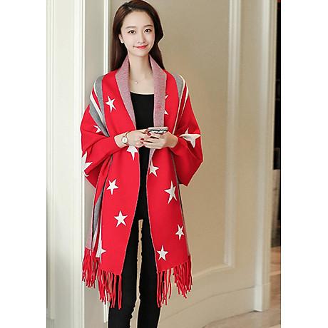 Áo khoác len in họa tiết ngôi sao GOTI1474330 1