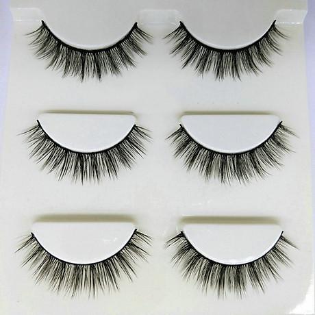 Lông mi giả lông chồn 3 Fashion Eyelashes 3 Faux-Cils 3D 1 bộ 3 cặp 1