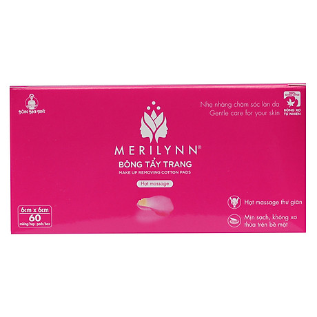 Bông Tẩy Trang Merilynn Bông Bạch Tuyết TP153 (60 Miếng) 1