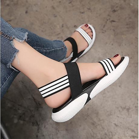 Giày sandal Quai kẻ ngang đế mềm êm - Hàng Đẹp 3