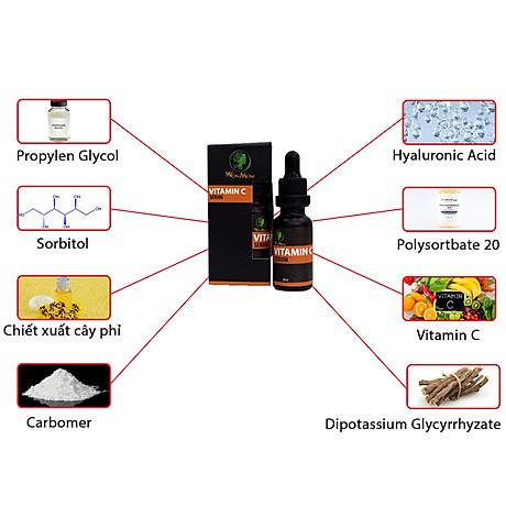 Serum Vitamin C Dưỡng Trắng Sáng Da Mờ Thâm Se Khít Lỗ Chân Lông Tái Tạo Da Wonmom Chai 20Ml - Chăm Sóc Da Mẹ Bầu Và Sau Sinh 7