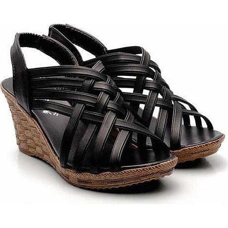 Giày Sandal Nữ Đế Xuồng Rọ C63 4