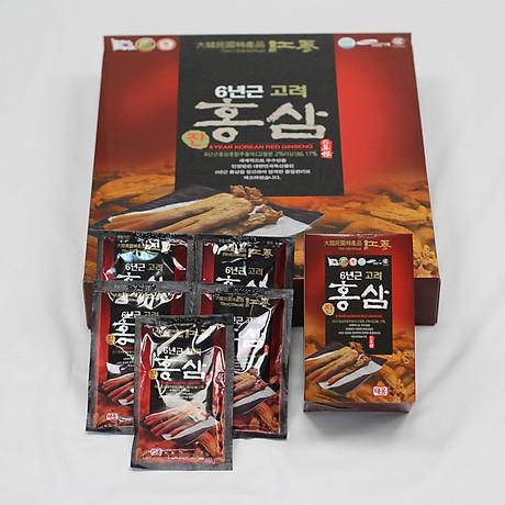 Thư c phâ m bô sung nước uô ng hồng sâm 6 tuô i Taewoong Food Ha n Quô c (Hộp 30 gói) 3