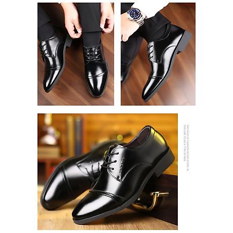 Giày da thật nam giày da nam cao cấp giày nam công sở sang trọng, phong cách thời trang giày da cao cấp giày nam mẫu mới mã 8867-A 6