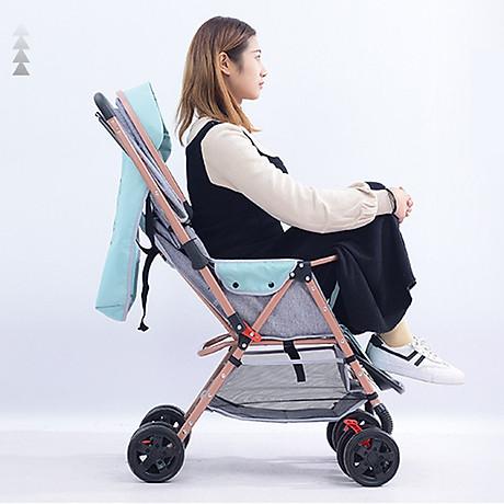 Xe đẩy trẻ em 2 chiều 3 tư thế gấp gọn khi đi du lịch, khung chắc chắn có mái che 6