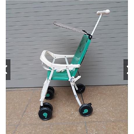 Xe đẩy du lịch (có mái che, phanh chân, bảo hiểm, túi đồ)- màu cho bé trai- chọn màu ngẫu nhiên 5