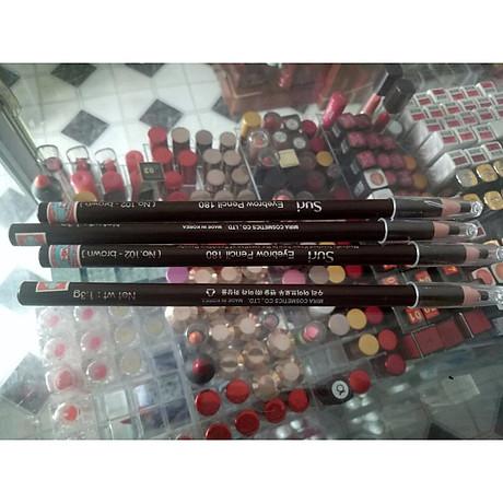 Chì mày xé Suri Eyebrow Pencil Hàn Quốc No.101 Black tặng kèm móc khoá 7