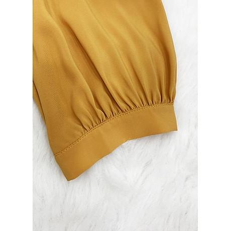 Áo sơ mi công ở kiểu áo sơ mi nữ xếp ly kèm phụ kiện ROMI 3099 7