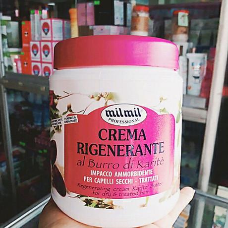Kem phục hồi tóc tinh chất bơ Milmil Cream Karite Butter 1000ml tặng kèm móc khóa 4
