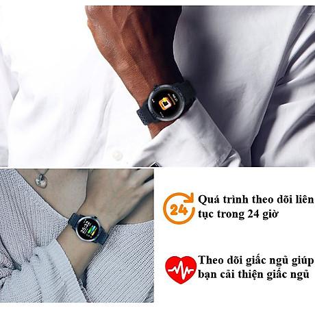 Đồng hồ thông minh đo nhịp tim, huyết áp chống nước cao 4