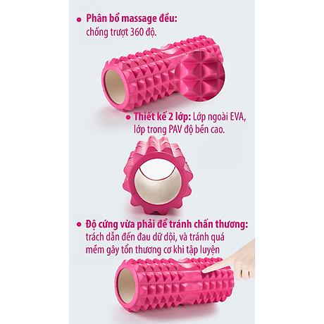 BG Con Lăn Massage Ống Lăn Dãn Cơ Foam Roller Tập Gym, Yoga, Thể Hình (hàng nhập khẩu) BLUE 6