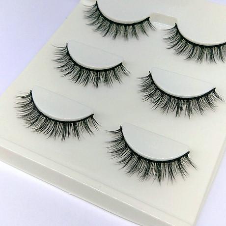 Lông mi giả lông chồn 3 Fashion Eyelashes 3 Faux-Cils 3D 1 bộ 3 cặp 2