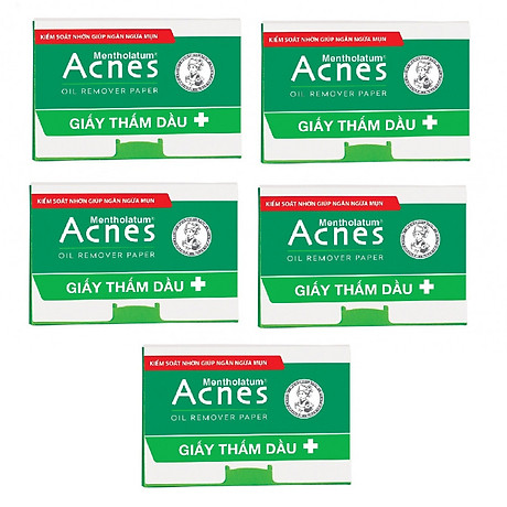 Combo 5 Giấy Thấm Dầu Acnes Oil Remover Paper (100 tờ) 1
