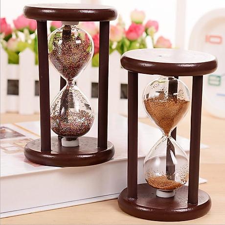 Đồng hồ cát khung gỗ để bàn trang trí 2