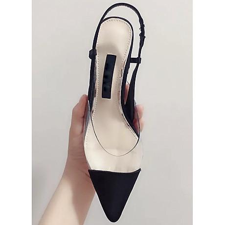 Giày Sandal Cao Gót Quai Da 3