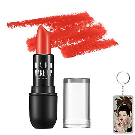 Son thỏi siêu lì nịnh môi Dabo Make Up Real RouGe Matte Hàn Quốc No.112 (Sun Shine Red) + Móc khoá 1