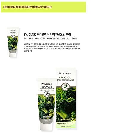 Kem nền dưỡng trắng tinh chất bông cải xanh 3W CLINIC Hàn Quốc 100ml 4