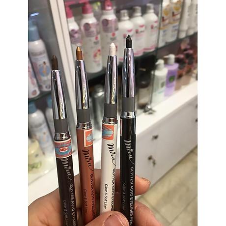 Chì mí kim tuyến Mira Glitter Auto Eyeliner Pen Hàn Quốc tặng kèm móc khoá 4