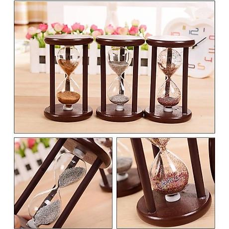 Đồng hồ cát khung gỗ để bàn trang trí 4