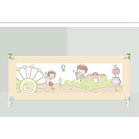Combo 02 thanh chặn giường dùng cho đệm dày lên đến 30cm, 1 thanh 1m8 và 1 thanh 2m Màu Kem, tặng gói khăn sữa cao cấp 2