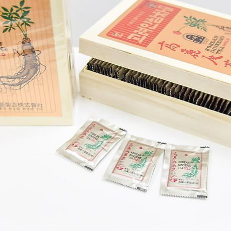 Trà hồng sâm Hàn Quốc Okinsam Hộp gỗ 100 gói - Dạng bột giúp giải nhiệt, giảm mệt mỏi, tỉnh táo tinh thần 4