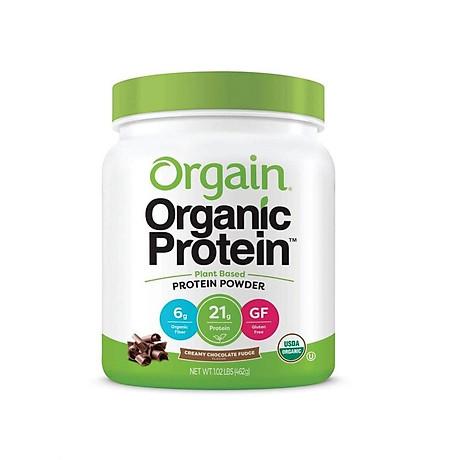 Bột Protein thực vật hữu cơ Orgain Organic Protein Greens 462g hương socola 1