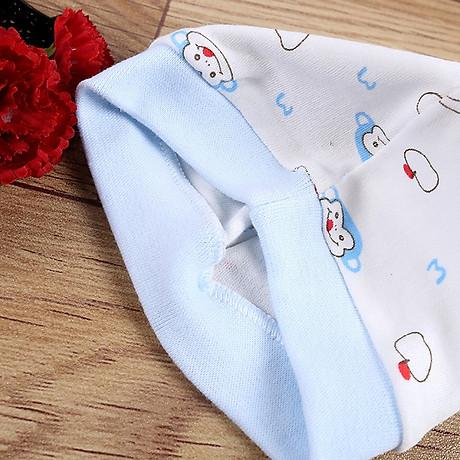 Combo 2 Mũ Che Thóp Cotton Mềm Cho Trẻ Sơ Sinh 0-6 Tháng - Họa Tiết Bé Gái 10