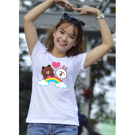 Áo thun nữ in hình dễ thương, áo phông nữ thoát nhiệt Nhật Bản GOKING 1