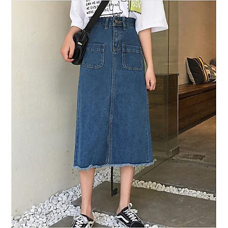 Chân váy JEAN nữ dáng dài dễ thương - CV09 3