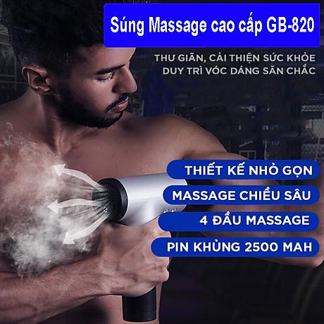 Máy Massage Đa Năng Cầm Tay Fascial Gun Cao Cấp FH-320 - Hỗ Trợ Massage Chuyên Sâu - Giảm đau cơ - Giảm Cứng Khớp - Massage Toàn Thân - Tặng Kèm 4 Đầu Massage 4