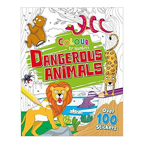 Colour By Numbers Dangerous Animals 1