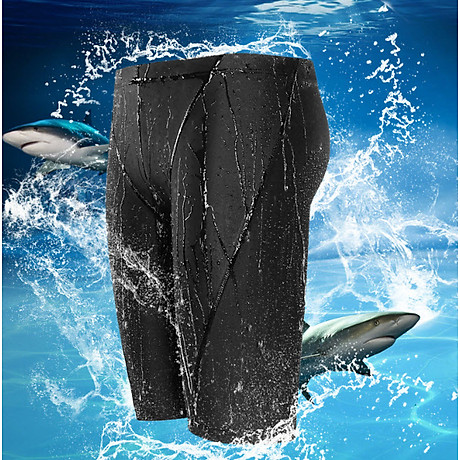 Quần Bơi Lửng Cho Nam Với Thiết Kế Vảy Cá Mập Yesure Chống Thấm Nước , Nhanh Khô Tặng Kèm Nón Bơi Vải chống nước, có thể dùng cho vận động viên chuyên nghiệp hoặc người có sở thích đi bơi 7