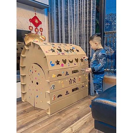 Nhà Lắp Ghép Thông Minh Nhà Giấy Carton Lắp Ráp Cho Bé 1