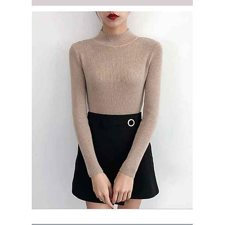 Áo len cổ 3 phân tay dài 1