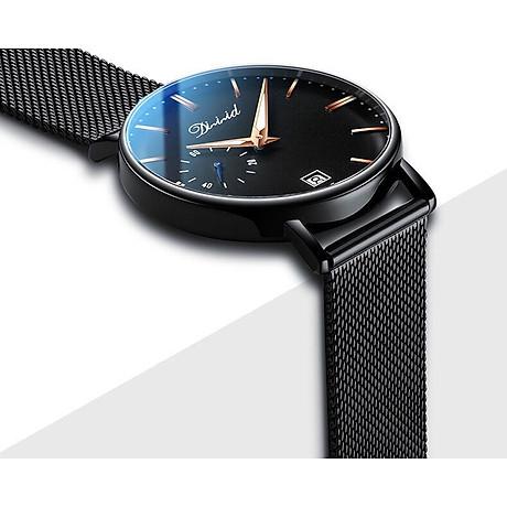 Đồng hồ nam cao cấp DIZIZID Dây Titanium Chạy Full 3 Kim Và Lịch Ngày - High Fashion Design DIZ3KD9 6